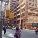 Andy pointing to the former location of Columbia Studio A, at the junction of 7th Avenue and W 52nd Street, New York City, September 2015.