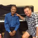 Andy with Frank Owens, September 2015, pianist on the first day of the Highway 61 sessions, 15 June 1965.