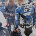 In the Donington pit lane with James Whitham, 2013 (John Saner)