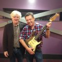 Andy and with Donal Gallagher and Rory's battered 1961 Fender Stratocaster Sunburst