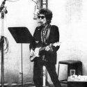 Dylan, during the Highway 61 sessions, in Columbia Studio A, New York City, 15 or 16  June 1965.