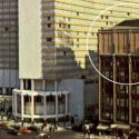 Columbia Recording Studios (circled), at the junction of 7th Avenue and W 52nd Street, New York City, prior to the building's demolition in 1983.